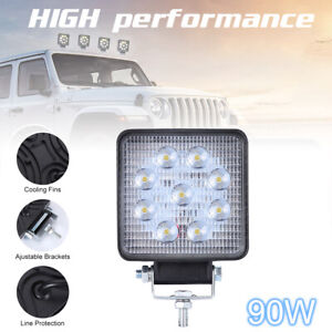 LED Spot Light for Off-Road SUV Boat 4x4 Lamp Tractor Marine Off-Road Lighting