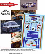 DECALS 1/24 REF 428 BMW M3 E30 BERNARDINI TOUR DE CORSE 1991 RALLYE RALLY WRC