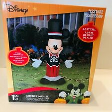 Disney Mickey Mouse Airblown Infatable Halloween Skeleton Lights Up Gemmy