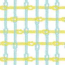 Maritime Modern Knotty Plaid Citron by Marin Sutton/Riley Blake, 1/2 yard fabric