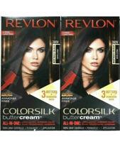 (2) Revlon 28DV Violet Black Vivid Hair Color Ammonia Free Colorsilk Buttercream