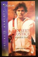 Desert Justice Valerie Parv Romance Action Defiance Passion Suspense Novel Book