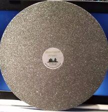 "THK 10""x1/2 100G Electroplated Diamond Flat Lap Lapidary Polishing Glass Facetor"