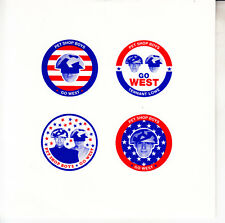 "PET SHOP BOYS Go West PICTURE SLEEVE 7"" 45 rpm record RARE + jukebox title strip"