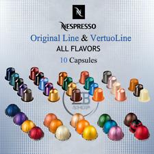 Nespresso Coffee 10 Capsules Pods Original Line / VertuoLine Espresso lot Sleeve