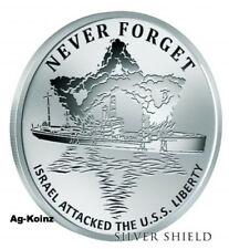 1 oz 2017 USS Liberty Proof - Never Forget #4 Silver Shield Israel Attacked USS