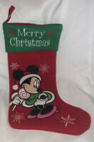 Red Green Disney Character Minnie Mouse Christmas Stocking Fleece