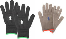 Classic Equine Barn Pair of Insulated Gloves Horse Black or Grey Glove