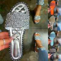 ❤️ Women's Rhinestone Sandals Slippers Shoes Flat Flip Flop Summer Casual Shoes