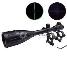 Hunting Rifle Optical Scope 6-24x50AOEG Red Green illuminated Crosshair Mil Dot