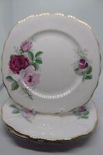 Royal Vale Pink Roses Side Plates x 4 Bone China British Vintage