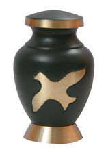 Low Cost of Aria Ascending Keepsake Urn for Burial Ashes, Brass Funeral Urns