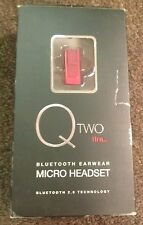 Q TWO FIRE_ BLUETOOTH EARWEAR MICRO HEADSET PRE-OWNED 2.0 TECHNOLOGY