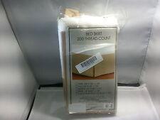Divatex 200-Thread Count Full Bed Skirt/Dust Ruffles Tan