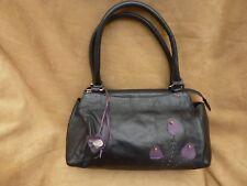 Debenhams Collection Black Leather Handbag