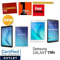 Samsung Galaxy Tab E 8.0in or 9.6in 16GB Black/White Wi-Fi +4G Tablet|Warranty
