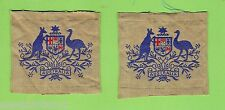 #T55.  PAIR OF  AUSTRALIAN ARMY COAT OF ARMS CLOTH PATCHES