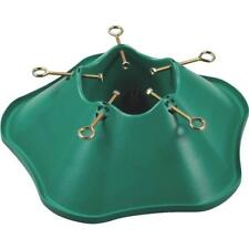 "12 Pk Green .75 GAL Plastic 20"" Base 5.5"" Trunk Christmas Tree Stand 508-ST"
