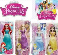 Disney Princess Royal Shimmer Belle, Ariel, Rapunzel, Cinderella Dolls