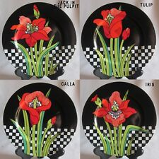 Salad Plate Fitz & Floyd Jardin Rouge - Different Designs Available