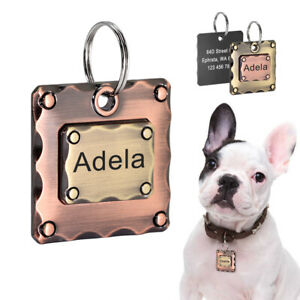 Pet Dog ID Tag Personalised With Name and Telephone Engraving Nameplate Custom