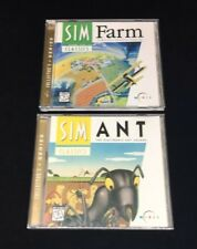 SIM ANT - THE ELECTRONIC ANT COLONY Sim Farm Country Cousins VIDEO GAME CD-ROM