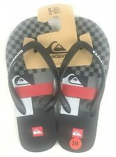 Quiksilver Mens Java Bank On It Black Sandals Flip Flops Size 10