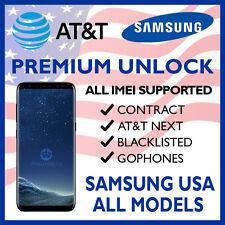 SAMSUNG UNLOCK CODE SERVICE GALAXY S8 S8+ S7 S6 NOTE 5 4 ACTIVE & EDGE ATT AT&T