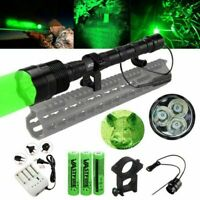 Bright 500 Yard Green LED Predator Coyote Hog Hunting Light W/ Gun Mount 25mm