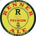"""RENNER ALE 11.75"""" ROUND METAL SIGN"""
