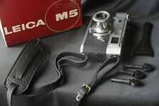 Leica M5 silver Chrome great shape only body 2 lugs with cap strap artisan black