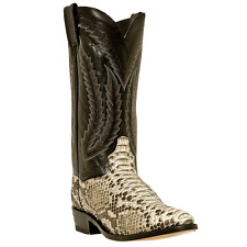 DAN POST MENS GENUINE PYTHON SNAKESKIN NATURAL COWBOY BOOTS   DPP3036
