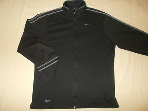 NIKE FIT DRY FULL ZIP BLACK ATHLETIC JACKET MENS MEDIUM EXCELLENT CONDITION