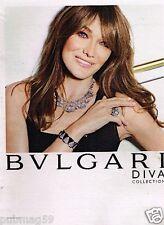 Publicité advertising 2014 Les Bijoux BULGARI avec Carla Bruni