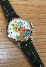 Genuine Bradley Bert & Ernie Sesame Street Vintage Collectible Wind Up Watch