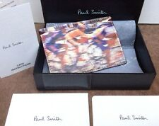 Paul Smith sfocati CICLISTA STAMPA PELLE PORTA CARTE DI CREDITO NUOVO CON SCATOLA MADE IN ITALY