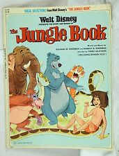 1967 Vintage Walt Disney's The Jungle Book Vocal Selections Book w/ Spanish Text