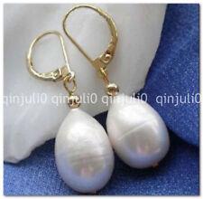 Hot vendre Belle 10-14 mm Tahiti Blanc Pearl Earring JE147