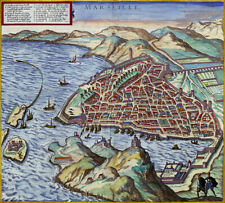 Reproduction plan ancien - Marseille vers 1575