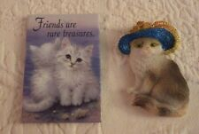 Lot of 2 Cat Kitchen Magnets Magnet Refrigerator Friends Rare Treasures