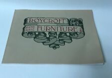 1973 FACSIMILE COPY OF 1912 ROYCROFT HAND MADE FURNITURE CATALOG