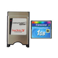 Transcend 512MB 1GB 80X Compact Flash + ATA card PCMCIA Adapter JANOME Machines