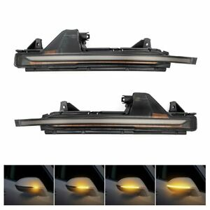 LED Dynamic Turn Signal Light Side Mirror Lamp For Audi A7 S7 RS7 2010-2017