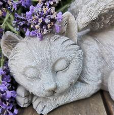 Grabschmuck Katzenfigur Katze Figur Dekofigur Cat Grabfigur Tiergrab Engel