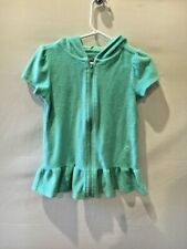 Op Girl's Size 3T Seafoam Green Terry Cloth Short Slv Swimsuit Cover Up N1