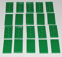 Lego Lot of 20 New Green Tiles 2 x 4 Flat Smooth Pieces Parts