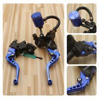 Universal 22MM Motorbike Brake Clutch Master Cylinder Levers Reservoir BL
