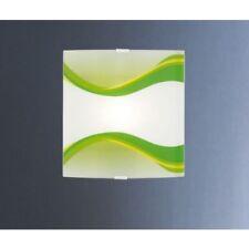 EGLO 87495 Napoli 1 lampada applique x parete in vetro e metallo bianca verde