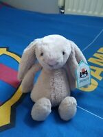 Jellycat small silver Bunny soft toy. New with tags.