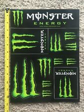 Monster Energy Logo Sticker Decal Sponsor Sheet 12 Stickers On Each Sheet